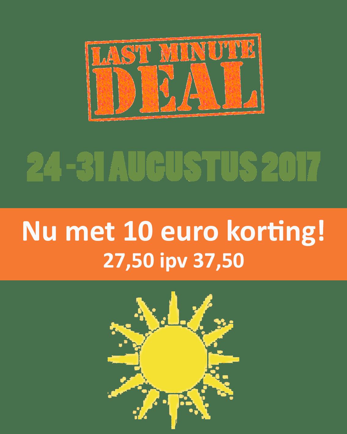 Korting 10 euro